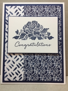 Floral Phrases, Night of Navy, Floral Boutique, Congratulations