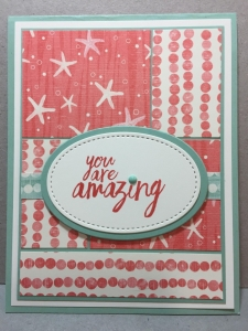 You are Amazing, Stampin'Up!, All Things Thanks, Mint Macaroon, calypso Coral