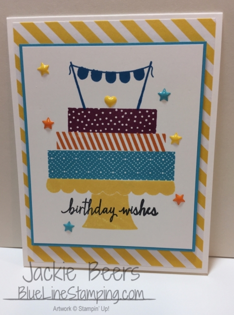 Birthday Wishes, Stampin' Up!, Jackie Beers, Independent Demonstrator