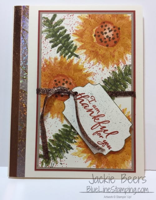 stampin' Up! painted harvest, Jackie Beers