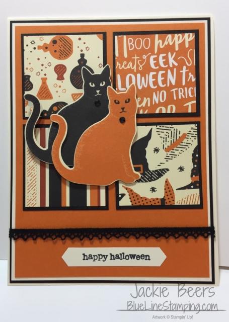 Stampin' Up! Spooky Cat, stampinup spooky cat, Jackie Beers, jackiebeers