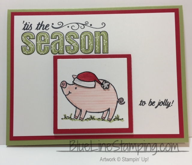 Stampin' Up! This Little Piggy, Jackie Beers, Bluelinestamping, blue line stamping, stampinup this little piggy