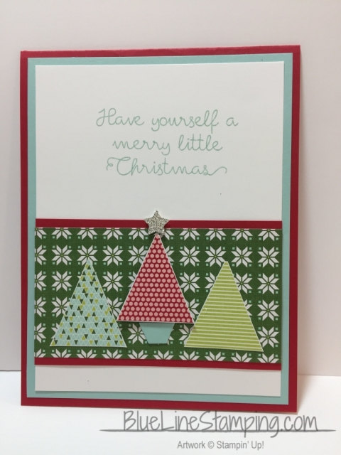 Stampin' Up! Christmas Quilt, Jackie Beers Stampinup Christmas Quilt