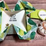 Napkin Fold Baby Gift Tag