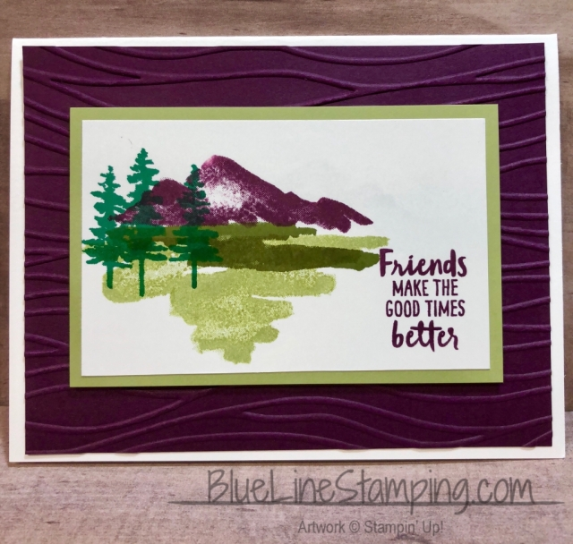 Stampin' Up!, waterfront, seaside, jackie beers, blackberry bliss