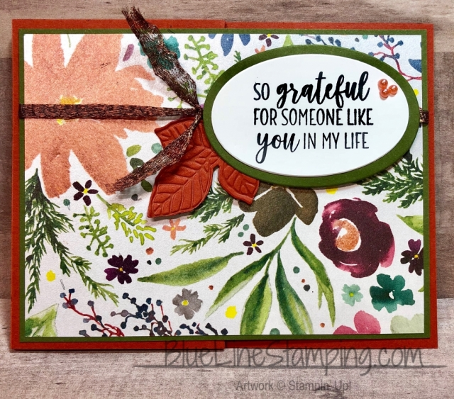 Stampin' Up!, Frosted Floral, Country Home, Cajun Craze, Mossy Meadow, Jackie Beers