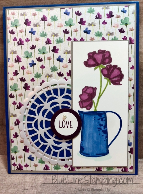 Stampin' Up!, Country Home, Love What You Do, Frosted Floral, Jackie Beers