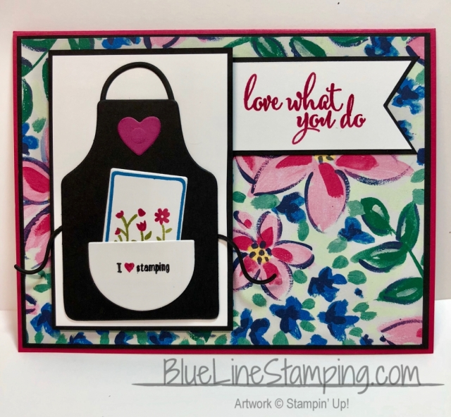 Stampin' Up!, Love What You Do, Apron Of Love, Garden Impressions, Jackie Beers