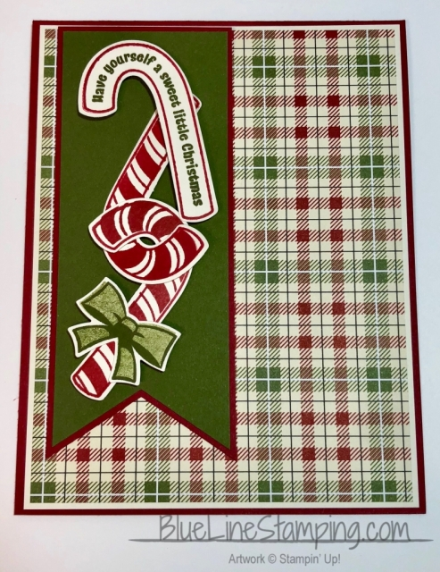 Stampin' Up!, Candy Cane Season, Festive Farmhouse, Banner Triple Punch, Jackie Beers
