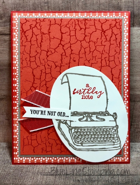 Stampin' Up!, PS you're the best, Crackle Paint, Itty Bitty Birthday, Jackie Beers