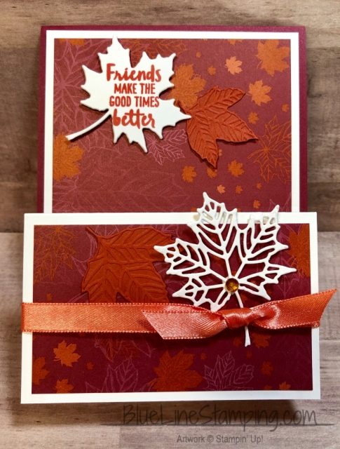 Stampin' Up!, Gathered Leaves Dies, Waterfront, Colorful Seasons Dies, Jackie Beers, Come To Gather DSP