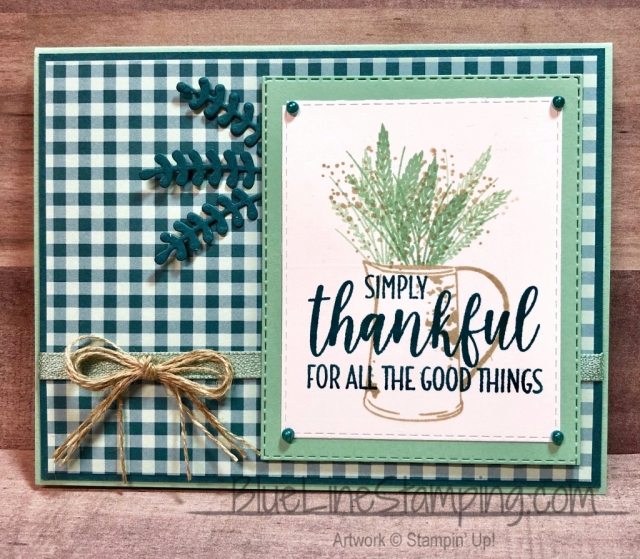 Stampin' Up!, Country Home, Gather Together, bouquet Bunch, Stitched Rectangle, Pretty Peacock, Mint Macaron,Jackie Beers