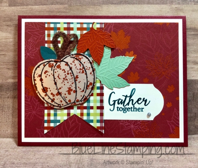 Stampin' Up!, Harvest Hellos, Mercury Vellum, Gather Together, Jackie Beers