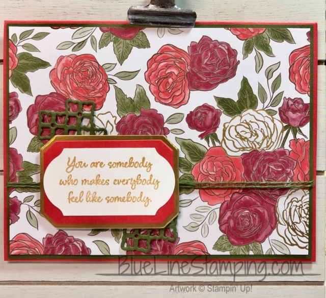 Stampin' Up!, Christmas Time is Here, Inspiring Iris, Frosted Bouquet, Timeless Label, Magnolia Lane Ribbons Combo, Roses Dies, Jackie Beers
