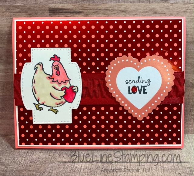 Stampin' Up!, Birds of a Feather, Stitched So Sweet, Heart punch, From My Heart, Jackie Beers