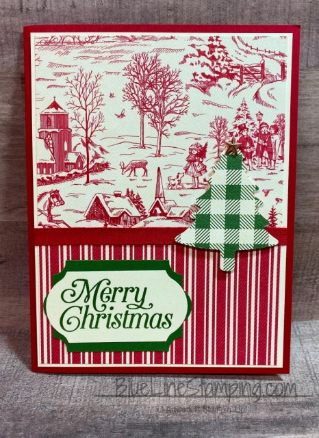 Stampin' Up!, Toile Tidings, Jackie Beers, Perfectly Plaid