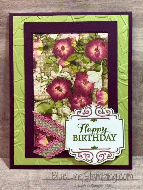 Stampin' Up!, Pressed Petals, Layered Leaves, Stitched Rectangles, Label Me Lovely, Jackie Beers