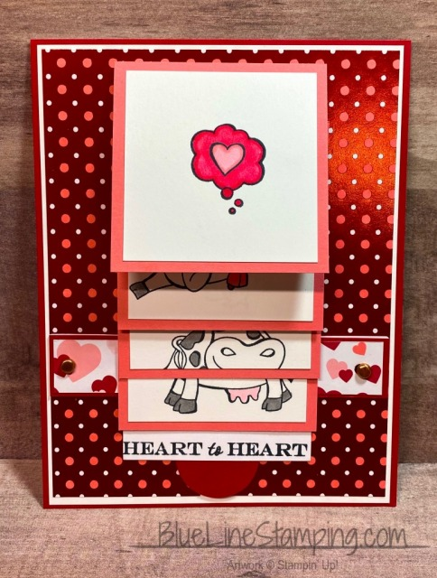 Stampin' Up!, Waterfall Card, Over The Moon, Jackie Beers