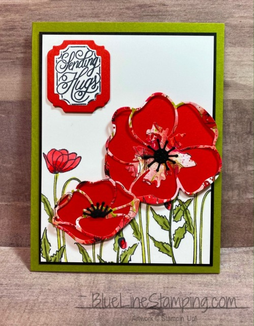Stampin' Up!, Poppy Moments, Painted Poppies, Ornate Frames, Perfectly Framed, Jackie Beers