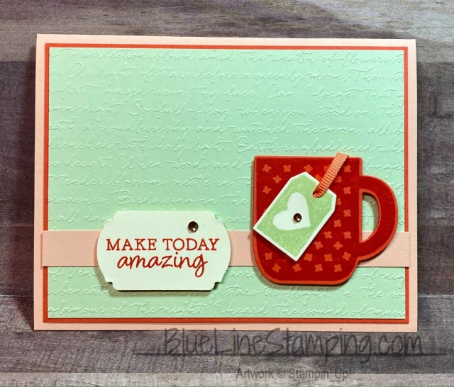 Stampin' Up!, Rise and Shine, Cup of Cheer, Scripty, Label Me Fancy, Jackie Beers