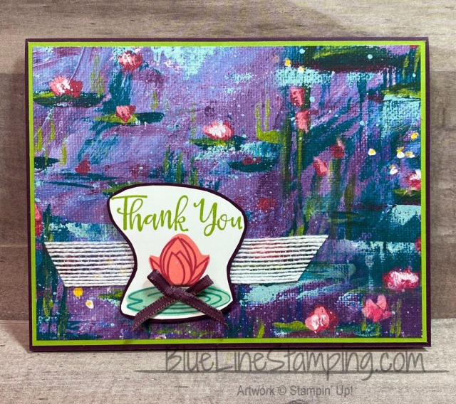 Stampin' Up!, Lovely Lily Pad, Lily Impressions, Peaceful Moments